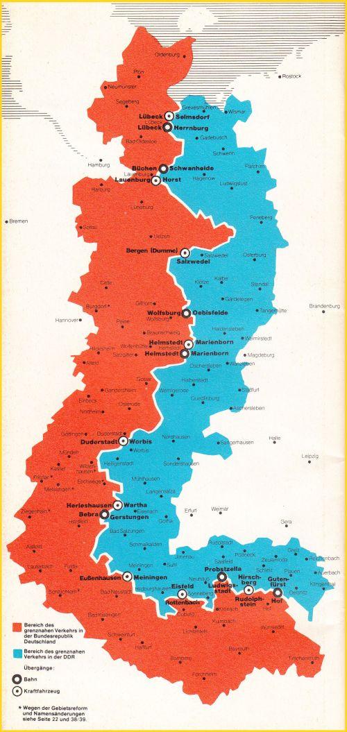 Verlauf Ddr Grenze Karte.20 Jahre öffnung Der Zonengrenze