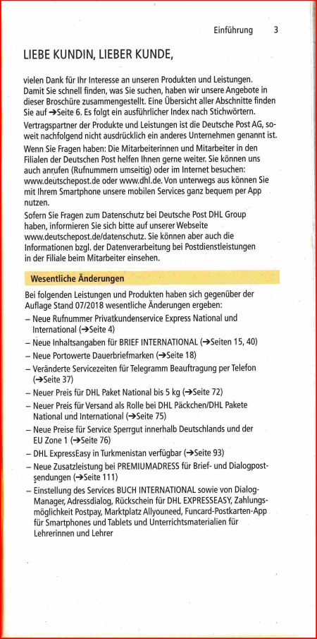 Aktuelle Gebührenankündigungen Der Deutschen Post Ag