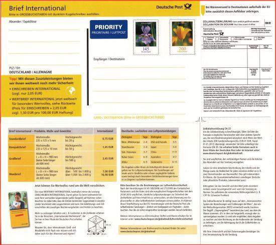 Warensendung Ins Ausland Warenbrief International